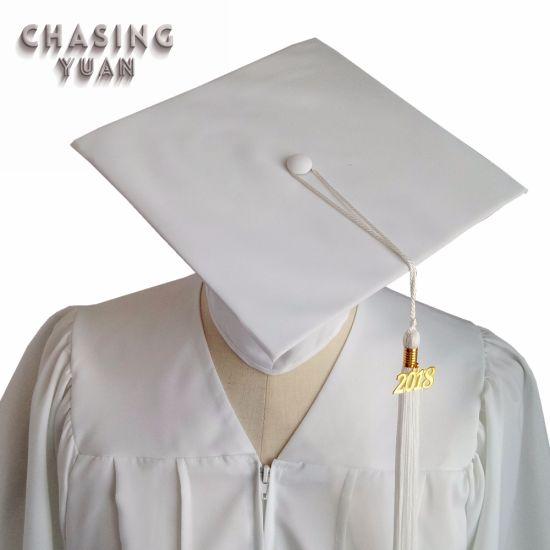 3390a2d52d6 China High School Matte White Graduation Gown with Cap Tassel ...
