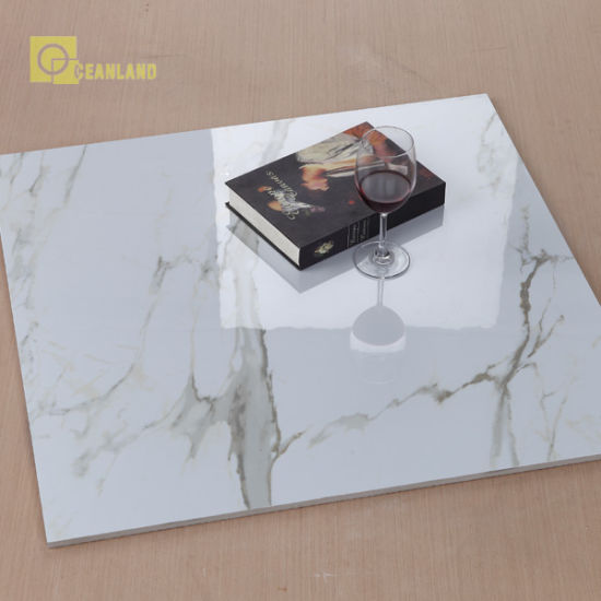 China White Marble Effect Porcelain Tiles China Floor Tile