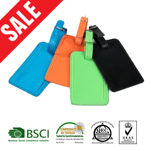 Cheap Promotional Bulk Faux Leather Luggage Tags pictures & photos
