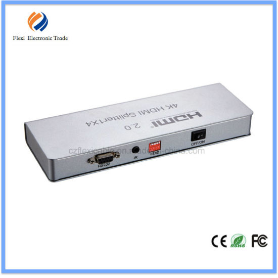 HDMI 2.0 Splitter 1X4 with Edid Management, IR Extension, Hdcp 2.2 pictures & photos