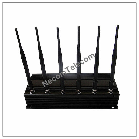 6-Bands Built-in Antenna Signal Jammer, Cellphone Jammer, New Lojack Jammer/Blocker for Cellular Phone+GPS+Wi-Fi+Lojack, Portable 6 Band Cellphone Jammer pictures & photos