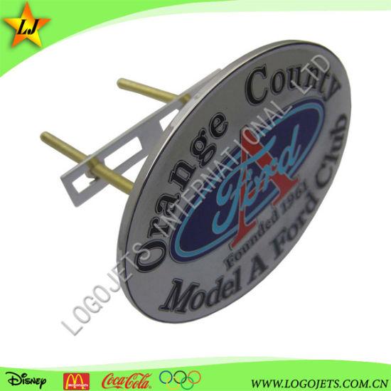 High Quality Unique Design Custom Logo Metal Brass Stamping Chrome Emblem Car Badges
