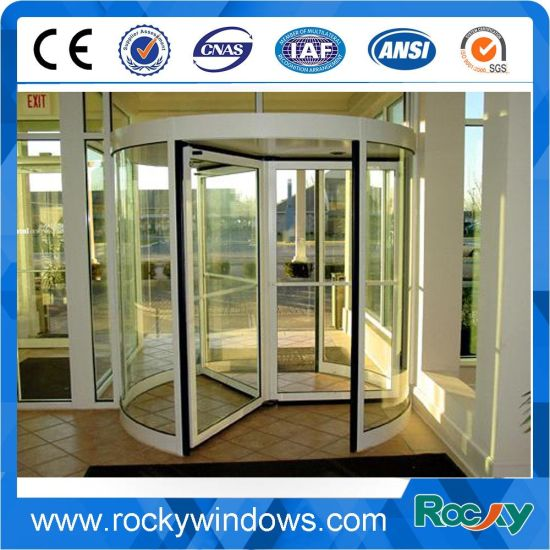 China Rocky New Design Glass Revolving Door For Hotel And Airport