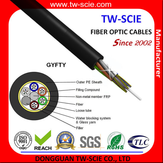 Easy Installation Factory Competitive Prices 288 Core High Quality Sm Outdoor Installation Optic Fiber Cable GYFTY pictures & photos
