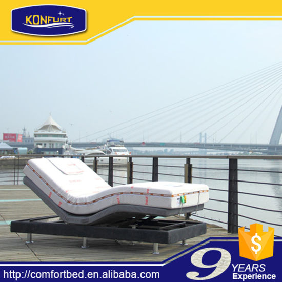 Comfort Furniture Barge Electric Bed Adjustable Bed with Bed Skirt pictures & photos
