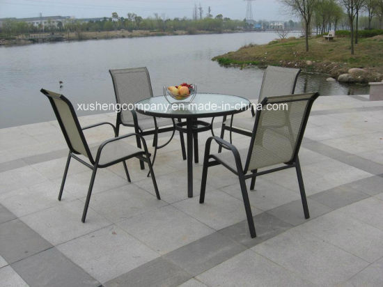 Steel 5PCS Moder Furniture Set by Table+Chairs pictures & photos