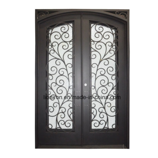 Custom Wrought Iron Security Entry Door With Beautiful Scroll Design