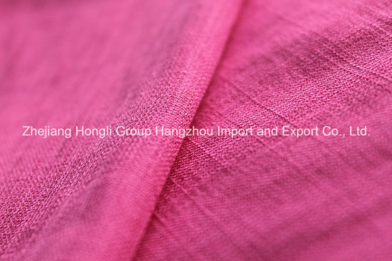 Slub Rayon/Polyester Fabric for Fashion Garment