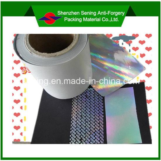 Laser Void Tamper Evident Label Material