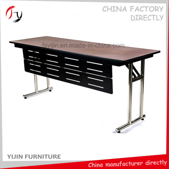 China Front Panel Rectangular Latest High Class Foldable Conference - Fold away conference table