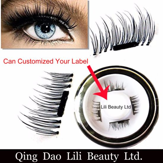 Customized label Magnetic Eyelash Wholesale Lashes Magnetic Strips Lash