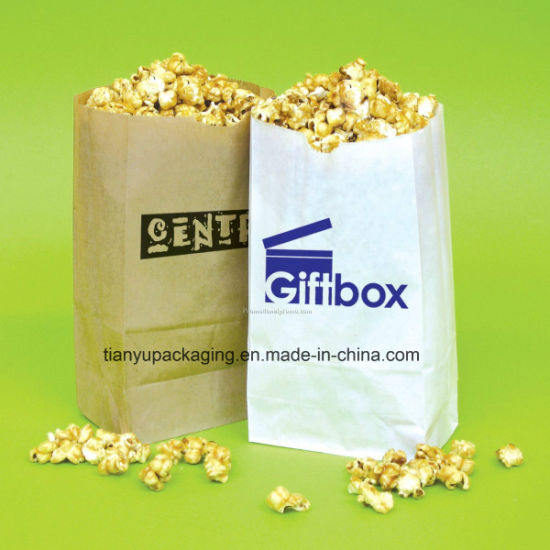 0830fcd063e China Popcorn Bag Natural Brown Kraft Paper Bag - China Bag