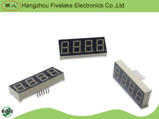 0.56 Inch Quad Digit Seven Segment LED Display (WD05641-A/B) pictures & photos