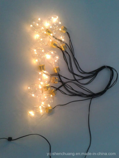 fairy string lights 10 bulbs with led copper wire inside for holiday decoration sc slb