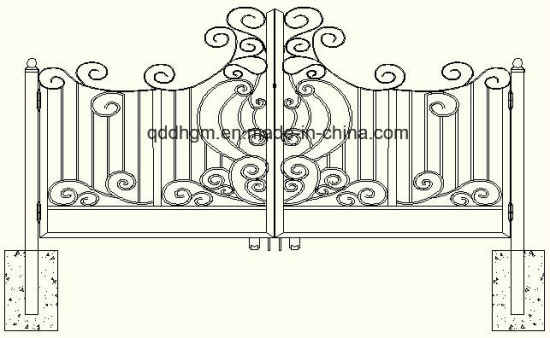 New Decorative Garden Forged Metal Gate pictures & photos