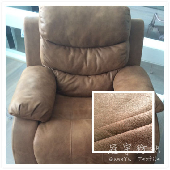 Thick Bonded 3 Layers Polyester Leather Sofa Fabric