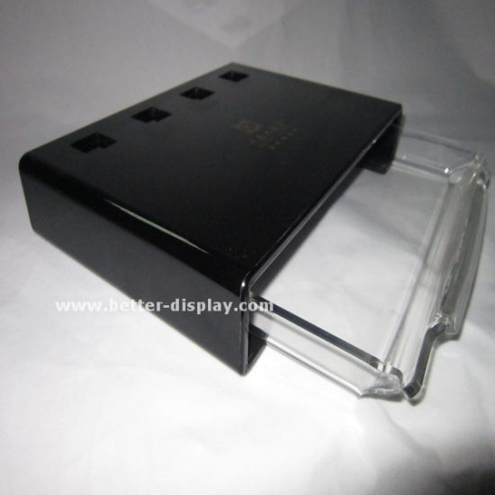 Large Black Plastic Serving Tray with Dividers (BTR-P1010) pictures & photos
