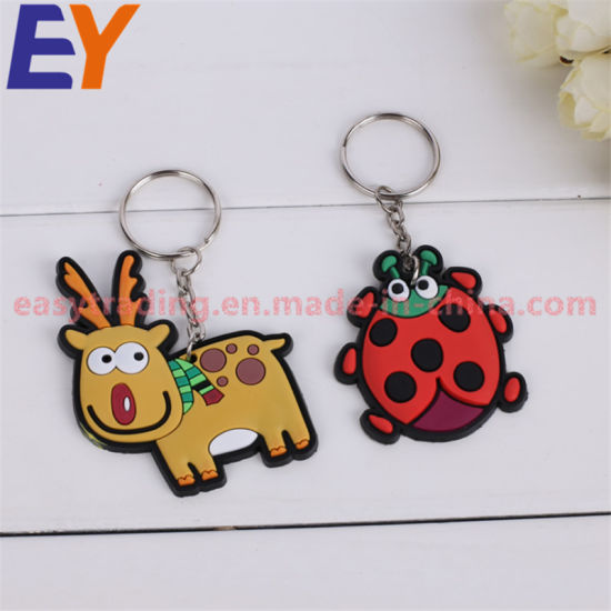 Custom 2018 Cheap Rubber Soft PVC Keychains for Promotion pictures & photos