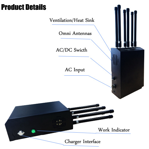 Portable 6 Channels Cell Phone GSM GPS Signal Jammer with Backpack pictures & photos