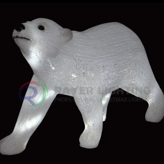 led bear christmas light holiday decorative light figure lights