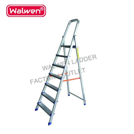 7 Steps Library Portable Staircase Aluminum Household Step Ladder