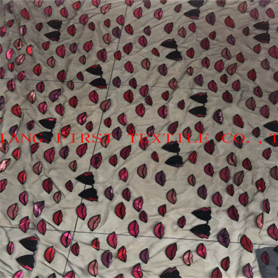 New Design of Burn out Opal Fabric. New Design of Opal Fabric pictures & photos