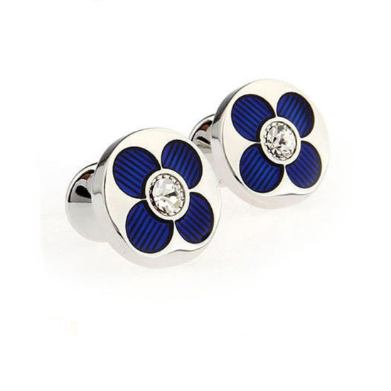 Factory Custom Making High Quality Metal Flower Cufflink pictures & photos
