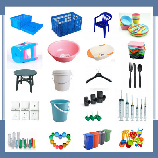 Customized Horizontal Small Pail with Cap Making Injection Moulding Machine pictures & photos