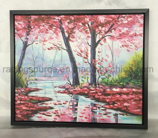 Acrylic Paint L-Shape Framed Art Oil Painting modern Art