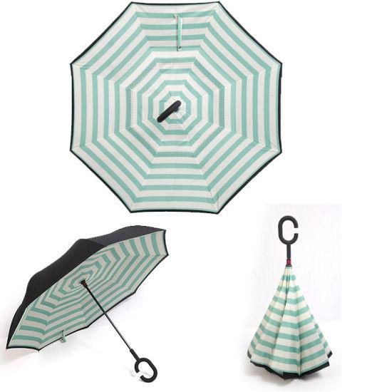 8c6356f63f277 Windproof Reverse Umbrella Folding Double Layer Inverted Rain Women Self  Stand Guarda Sol Sunny and Rainy Parasol