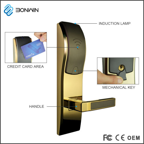 The Newest Electronic Remote Control Door Lock with RF Cards pictures & photos