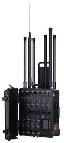 Portable 10 Bands Dds Bomb Jammer, 500m Sheilding Range