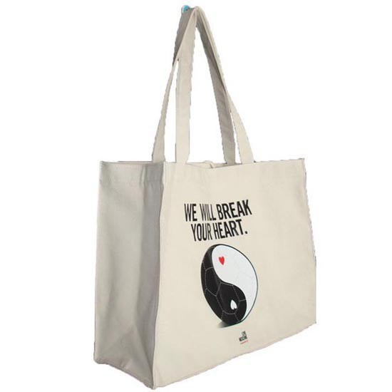 Natural Pure Cotton Customized Canvas Tote Bag Foldable Reusabe Overprinted