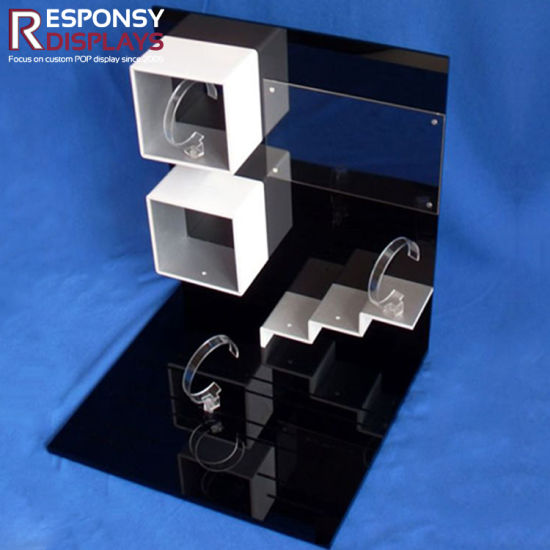 Customized Black Luxury and Splendid Acrylic Watch Display Counter pictures & photos