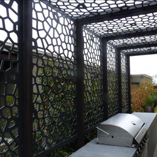China Laser Cut Metallic Paint Aluminum Screen Panels