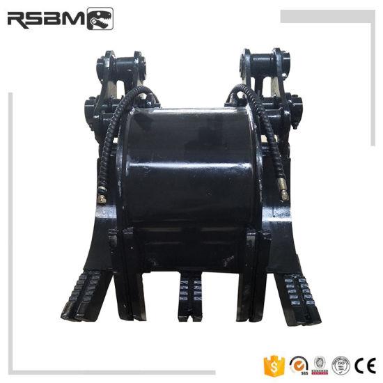 China Rsbm 5 Tines Excavator Hydraulic Timber Grab - China