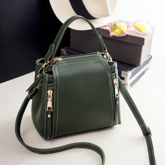 Guangzhou Factory Stocks and Without Any MOQ 2018 New PU Leather Fashion Designer  Women Female Fashionable Tote Ladies Handbag 0b980b0185