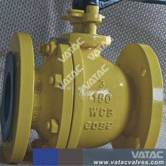 Mounting Pad Top Plate Casting Steel 2 Pieces Split Type Wcb Ball Valve pictures & photos