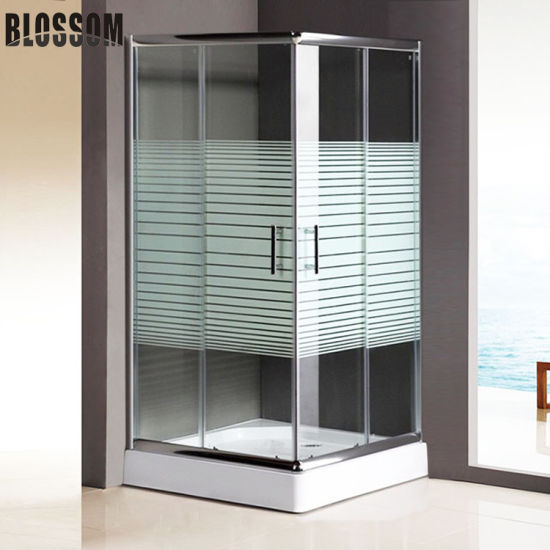 Bathroom Enclosure Cabin Sliding Door Tempered Glass Simple Shower Room pictures & photos