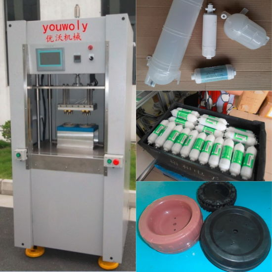 Spin Welding Machine PP Water Filter Plastic Parts Welding pictures & photos