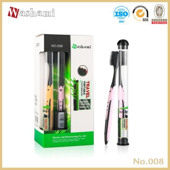Washami Travel Portable Bamboo Charcoal Toothbrush