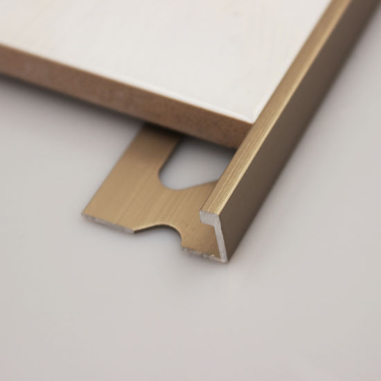 High Quality Customize Diffe Color Finishing Material Aluminum Bronze Metal L Shaped Tile Trim For