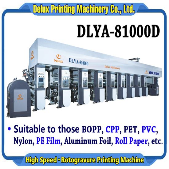 8 Colors, High Speed Automatic Rotogravure Printing Machine with Shaftless Drive (DLYA-81000D) pictures & photos