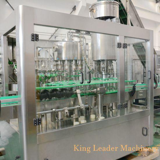 Full Automatic Glass Bottle Fruit Juice Beverage Bottling Machine