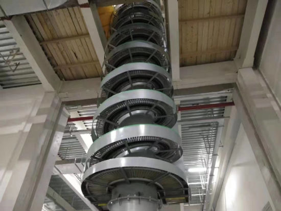 Stainless Steel Drying Cooling Screw Vertical Lift Elevator, Vibrating Spiral Conveyor