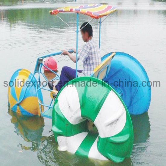 China Hot Sale 3 Big Wheels Water Tricycle Bike For Entertainment