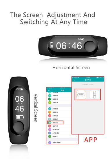 2018 Android Smart Phone Watch for Mi Band 3 OLED Screen Smartwatch