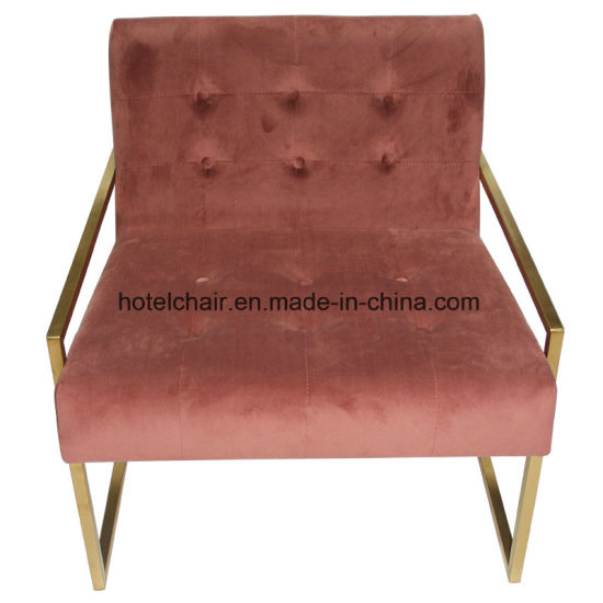 Hotel Home Used Pink Fabric Living Room Sofa Chairs S 061
