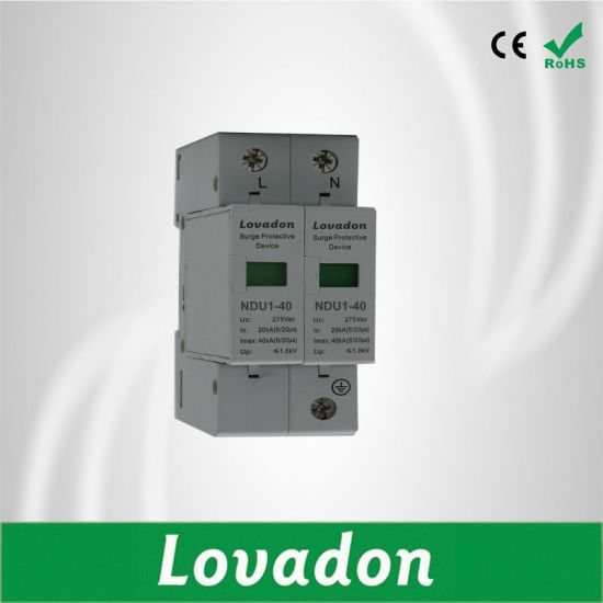 20-40ka 110V/220V/380V AC 3p House Ndu1-40 Surge Protector Device pictures & photos