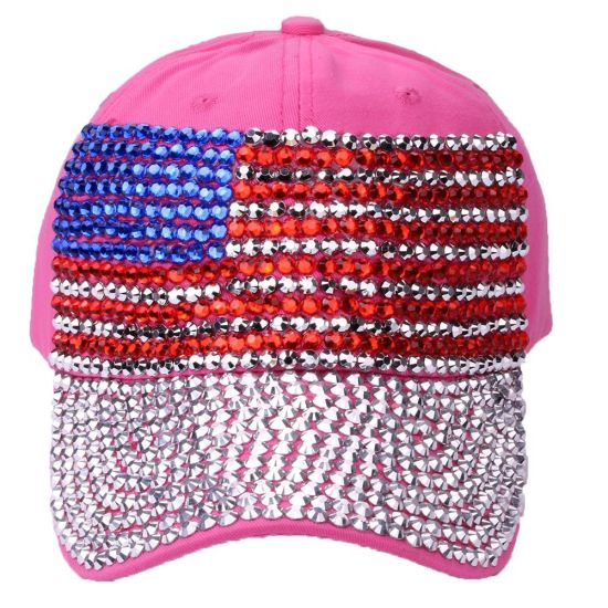 China New Fashion American Flag Cap with Diamond Jeans Baseball Hat ... 1f870d07a2ca